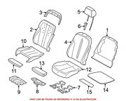 For Bmw Genuine Seat Cover Front Left Rearward 52107280573