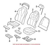 For Bmw Genuine Seat Back Cushion Front Left Lower 52108055505