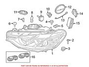 For Bmw Genuine High Intensity Discharge Headlight Control Module Front 63117316