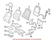 For Bmw Genuine Seat Cover Front Left Rearward 52107253232