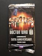 Rare Bbc Topps Dr. Who 50th Anniversary Trading Card Pack Unopened Not Auto