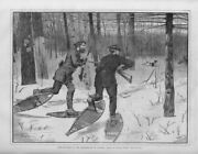 Winslow Homer Deer Stalking With Dogs In The Adirondacks In Winter Snowshoes