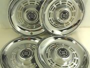 14 Hubcaps Wheel Cover Vintage Chrome Metal After Market Look Like Ford Mercury