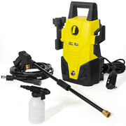 2000 Psi 1.3 Gpm Power Water Electric Pressure Washer Kit W/ Hose Detergent Tank