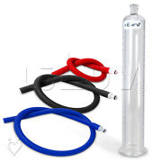 Leluv Penis Pump Cylinder With Silicone Hose | Untapered | Airtight Fittings