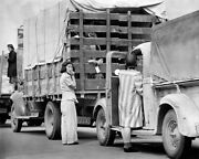 Japanese Residents On Relocation Truck Wwii 16x20 Silver Halide Photo Print