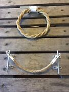 Rope Toilet Paper Holder And Towel Ring Set Nautical Beach Rustic Decor