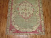 Antique Turkish Ghiordes Oushak Ushak Rug Size 3and0399and039and039x5and0395and039and039