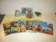 Walt Disney Mcdonalds Toy Story Happy Meal Toys Set Of 5 With Boxes And Placemat