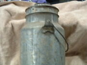 Old Antique Metal Security Branded Milk Can Pail With Cover