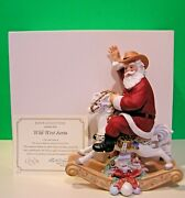 Lenox Wild West Santa Rocking Horse 2005 Annual Sculpture -- New In Box With Coa