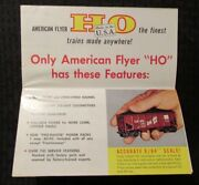 1959 American Flyer Trains And Accessories 37x17 Fold-out Catalog Fvf 7.0 Gilbert