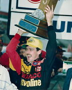 Davey Allison Rare 1/1 1991 The Rock Win Autographed 8x10 Photo Free Shipping