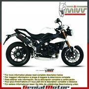 Mivv Approved Exhaust Mufflers Suono Black High Triumph Speed Triple 2011 2015