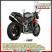 Mivv Approved Exhaust Mufflers Suono Black For Triumph Speed Triple 2016 2018