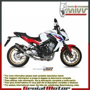 Mivv Complete Exhaust Oval Carbon With Carbon Cap For Honda Cb 650 F 2014 2018