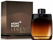 Legend Night By Mont Blanc Cologne Men Edp 3.3 / 3.4 Oz New In Box