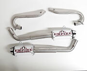 Empire Industries Dual Shorty Exhaust Full System White Yamaha Raptor 700 06-14