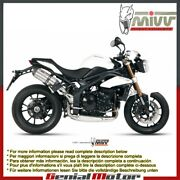 Mivv Approved Exhaust Mufflers Suono Steel High Triumph Speed Triple 2011 11
