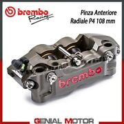 Radial Rear Brake Caliper Brembo Racing Left Cnc P4-32/36 108 Mm Without Pad