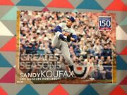 123 Sandy Koufax Dodgers Hof 5x7 /10 Made Gold 2019 Topps 150 Years Greatest