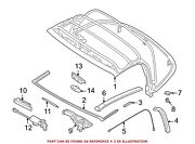 For Bmw Genuine Convertible Top Seal Front Right 54348232325