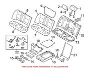 For Bmw Genuine Seat Back Cover Rear 52207254151