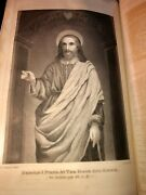 1869 Holy Bible Hitcock's Analysis W/steel Engravings Leatherbound Colored Map