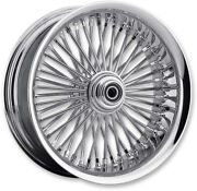 Chrome 50 Fat Daddy Spoke 21 3.5 Front Wheel Rim Harley Touring Bagger 08+ W/abs