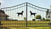 Free Shipping Inc Post Pkg Steel / Iron Driveway Gate 12 Ft Wd Ds Home Security