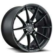 20 Staggered Niche M196 Sector Matte Black Wheels And Tires