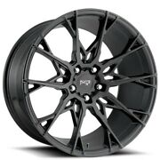 20 Staggered Niche M183 Staccato Matte Black Wheels And Tires