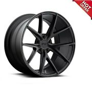 20 Staggered Niche M117 Misano Matte Black Wheels And Tires