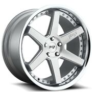 20 Niche M193 Altair Brushed Silver With Chrome Wheels And Tires
