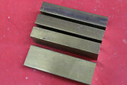 4 Pieces 1 X 2 C360 Brass Flat Bar 6 Long New Solid Mill Stock H02 1.0x 2.0