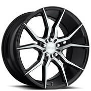 Set4 19 Niche M166 Ascari Black With Brushed Wheels And Tires