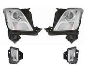 Left Right Genuine Headlights No Hid Day Run Lamps Kit For Xts No Leveling Gm
