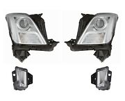 Left And Right Genuine Headlights No Hid And Day Run Lamps Kit For Xts Leveling Gm