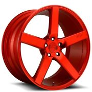 4rims 20 Niche M187 Milan Candy Red Wheels And Tires