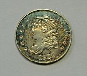 Attractive Circulated 1829 Capped Bust Half Dime Grading Nice Au G95