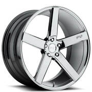 Qty4 20 Staggered Niche M132 Milan Chrome Wheels And Tires