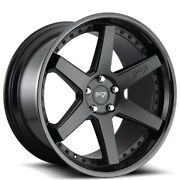 Qty4 19 Staggered Niche M192 Altair Matte Black Lip Wheels And Tires
