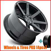 4/set 20 Staggered Niche M168 Verona Black Wheels And Tires