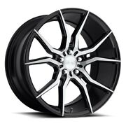 4/set 20 Staggered Niche M166 Ascari Black With Brushed Wheels And Tires