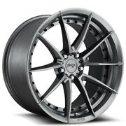 4/set 20 Staggered Niche M197 Sector Gloss Anthracite Wheels And Tires