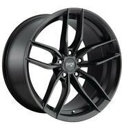 4/set 20 Staggered Niche M203 Vosso Matte Black Wheels And Tires