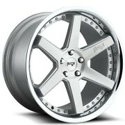 4/set 20 Staggered Niche M193 Altair Brushed Silver W Chrome Wheels And Tires