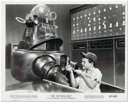 Invisible Boy -1957- 1 Original 8x10 Glossy Still Photo - Robby The Robot And Boy