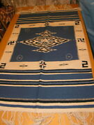 Exciting And Well Done Antique Zapotec Child's Blanket Whirling Log Serape 28x58