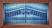New Orleans Style Driveway Gate 1081 14and039 Inc Post Pkg Home Improvement Security